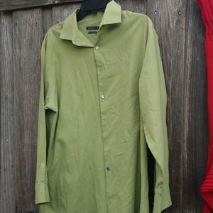 Van Heusen green dress shirt